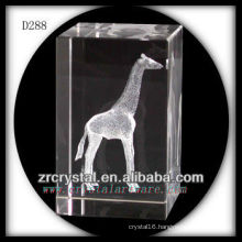 K9 3D Laser Etched Giraffe Inside Crystal Rectangle