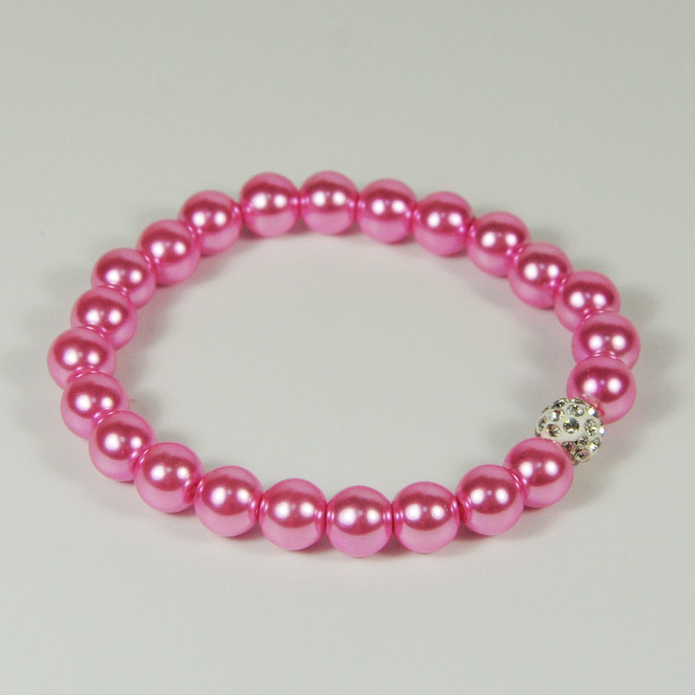 2018 Fashion Pink Pearl Bracelet For Girls