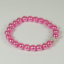 China New Product for Pearl Bead Bracelet,Glass Bead Bracelet,Beaded Bracelets For Women Manufacturer in China 2018 Fashion Pink Pearl Bracelet for Girls export to United Arab Emirates Factory