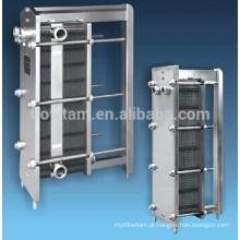 Trocador de calor de placas de aço inoxidável de alta qualidade / permutador de calor de painel