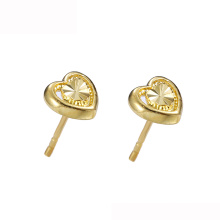 95953 Xuping jewelry 24K gold Plated China wholesale heart shape stud earrings