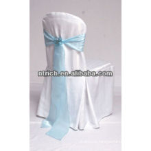 Used banquet polyester jersey chair cover with satin sash