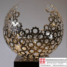 Half Sphere Stainless Steel Art Statue