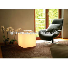 Plastic LED cube for night club, party, living room