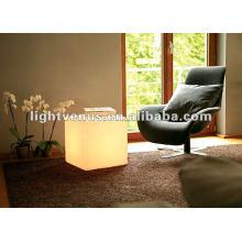Cubo de plástico LED para boate, festa, sala de estar