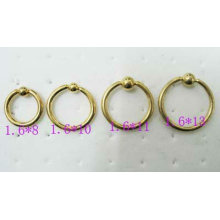 fashion body jewelry Ball Closure Rings nose screw piercing