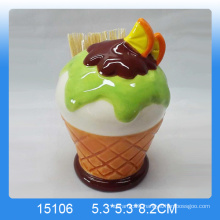 Unique ice cream shaped ceramic toothpick holder for customing