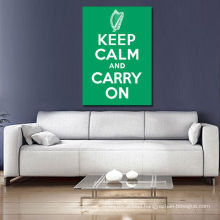 Keep Clam and Carry on Green Word Arts