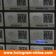 Sicherheit 3D Laser Hologramm Aufkleber für Stoff