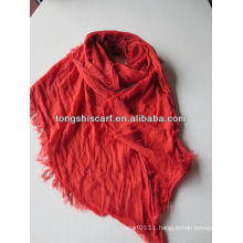 acrilc scarf with natural crinkle