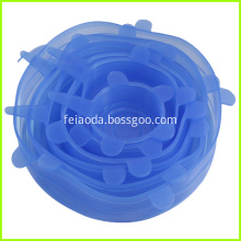 Blue Silicone Pot Lid Cover Set