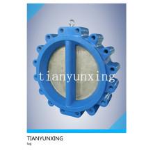 Aço inoxidável dupla disco ferro fundido Body Lug válvula de retenção