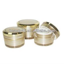 Gold Color Face Acrylic Cream Jar 5ml 10ml 15ml 30ml 50ml 100ml