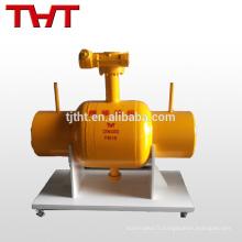 Robinet à boisseau sphérique à passage intégral entièrement soudé pour gazoduc