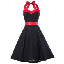 Vestido de Verano Grace Karin Mujeres Vestido 2017 Retro Swing Gown Pin hasta Plaid Robe Vintage 60s 50s Rockabilly Vestido CL010496-1