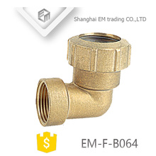 EM-F-B064 Plumbing 90 Degree Female thread and Compression joint spain fitting