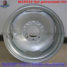 W10X24 Стальные оцинкованные обода для оросительной оси