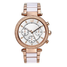 Hot sale jewellery women's case and dial with metal bracelet watches ladies