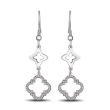 Mais recente moda tendências coleção conjuntos de jóias brinco de aço inoxidável