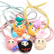 Precio al por mayor Baby / Infant / Toddler Princess Design Ponytail Holder Kawaii Elastic Pigtail Birthday Christmas Party Shower