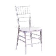 Chaise en tiffany de mariage cristalline en cristal transprarent