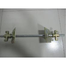 Formwork steel tie rod with nut
