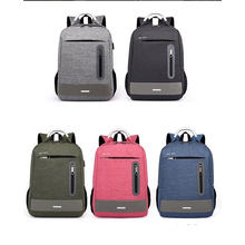 Fashion Simple Business Backpack Multi Function Laptop Bag Oxford Travel Bag with USB