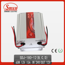 Convertidor reductor de 24VDC-12VDC, Convertidor de fuente de alimentación de 180W