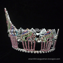 Beauty Queen Crown Tiaras shape cake Rhinestone Large birthday Pageant Crowns