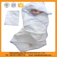 23 * 51 Zoll null Twist Stickerei Logo Baumwolle mit Kapuze Baby Badetuch