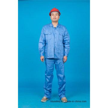 Alta qualidade manga longa 65% poliéster 35% algodão segurança terno Workwear (BLY2004)