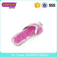 Adorável rosa esmalte chinelo encantos flutuantes para fazer pulseira