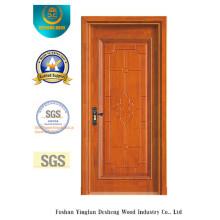 Puerta de MDF de estilo chino simplificado para interior con color amarillo (xcl-004)