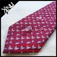 Le polyester résistant aux taches laisse la cravate privée tissée en gros des hommes italiens