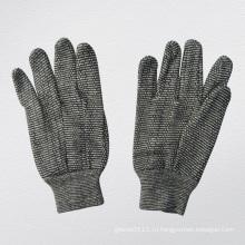10 унций серый строки трикотажные рабочие хлопчатобумажные перчатки--2103