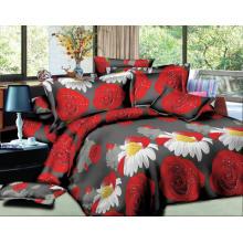 100% polyester 4pcs 3d couverture de lit impression ensemble de literie