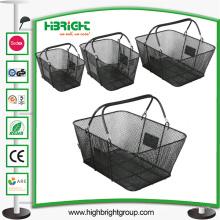 Schwarzer Metallmaschendraht-Einkaufskorb