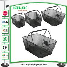 Black Metal Wire Mesh Shopping Basket