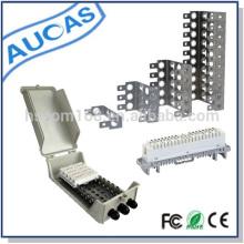 Estrutura de montagem traseira em aço inoxidável para 10 pares de conexão e desconexão do módulo LSA krone
