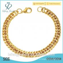 Moda estilo mejor precio de la joyería chapada en oro pulsera para los hombres