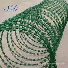 Galvanized And Hot Dipped Galvanized Concertina Razor Barbed Wire For Fence