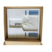 Tubo de acero Sc / Upc Conector 1 * 8 PLC Splitter
