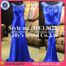 2015 Global hot sale short sleeves blue gorgeous couture evening dresses royal blue evening dress muslim wedding dress