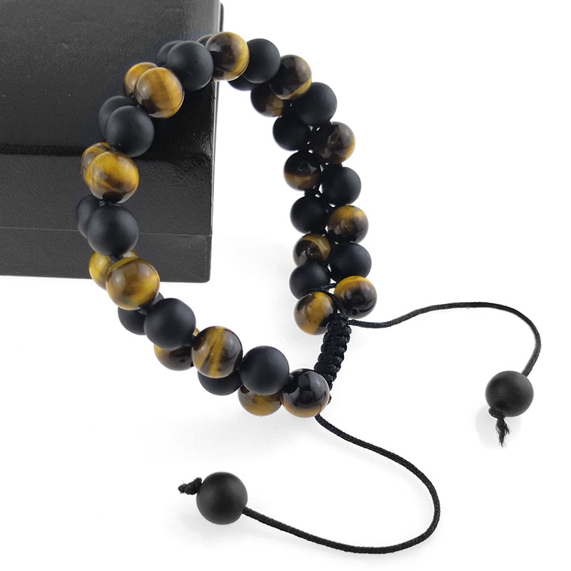 Mens Tiger Eye Bead Bracelets