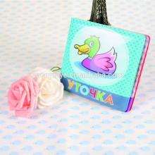 capa de livro de plástico personalizado bebê banho livro