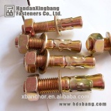ANSI throuh bolt /wedge anchor /ansi standard bolts with white zinc plated made in hebei handan yongnian