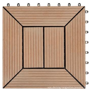UV Resistant Wood Plastic Composite WPC Deck Tile