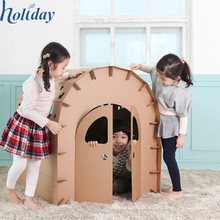 Various Lovely Shapes Corrugate Indoor Kids Playhouse