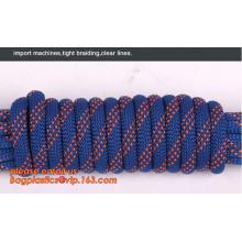 100% nylon 66 8mm 9mm 9.5mm climbing rope strength