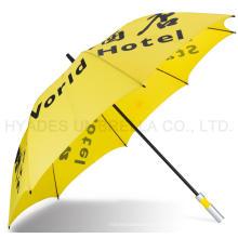 Kundenspezifischer Druckfördernder Auto-offener Golf-Regenschirm